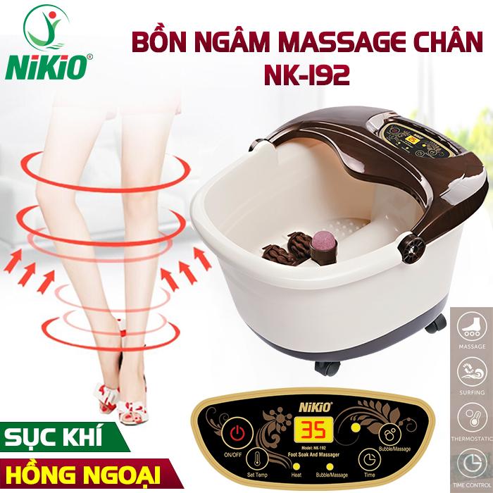 Video Bồn ngâm chân massage hồng ngoại Nhật Bản Nikio NK-192 - loại bỏ tê bì, lạnh chân, cải thiện tuần hoàn máu, nâng cao sức khỏe