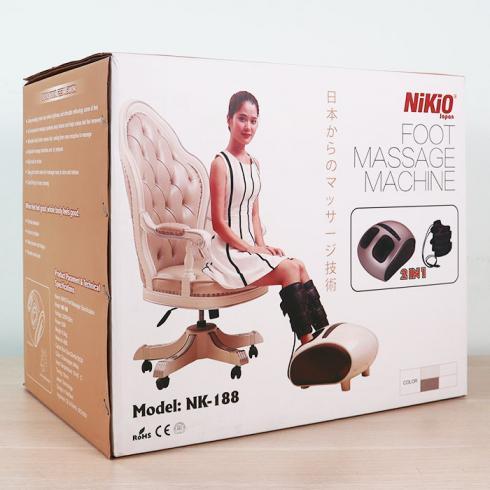 Video giới thiệu máy massage chân áp suất khí Nhật Bản Nikio NK-188 - 2 in 1