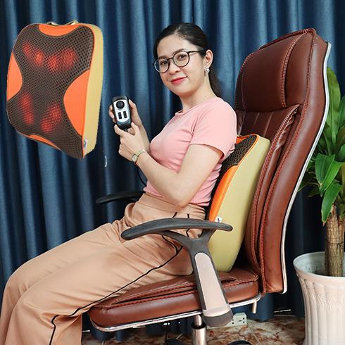Máy massage lưng hồng ngoại Hàn Quốc Puli PL-803A-W